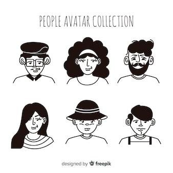 Colección avatares dibujados a mano