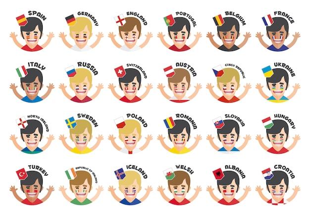Colección de avatares de equipos de la eurocopa