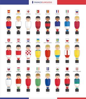 Colección de avatares de futbolín