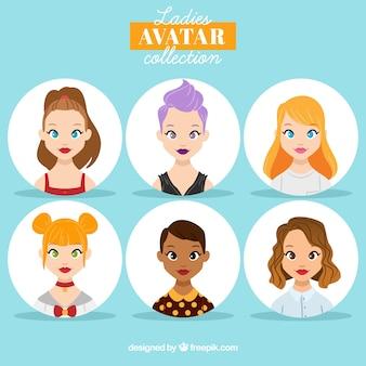 Colección de avatares de mujeres