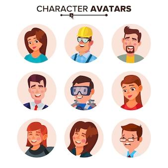 Colección de avatares de personas.