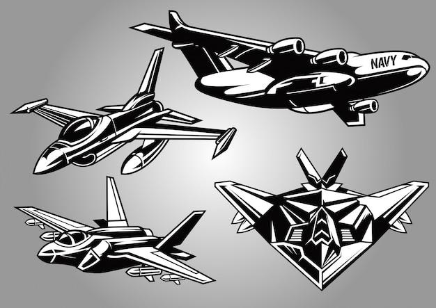 Colección de aviones militares modernos