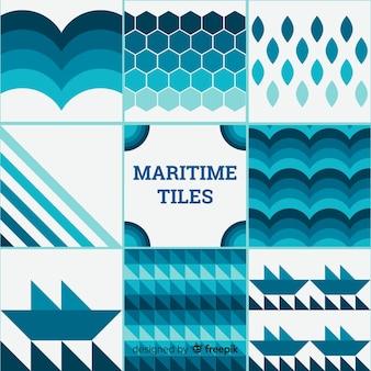 Colección de azulejos marítimos