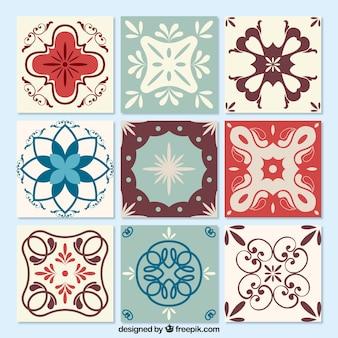 Colección de azulejos ornamentales