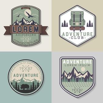 Colección de badges de aventura