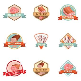 Colección de badges de carniceria