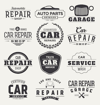 Colección de badges de coche