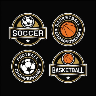 Colección bagde de championshop de fútbol y baloncesto
