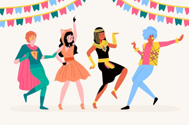 Colección de bailarines de carnaval