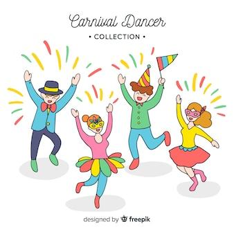 Colección de bailarines de carnavales