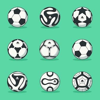 Colección de balones de fútbol