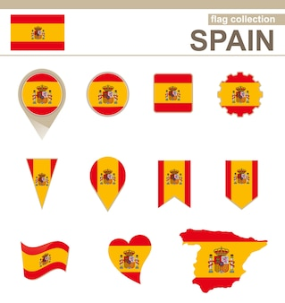 Colección bandera de españa, 12 versiones