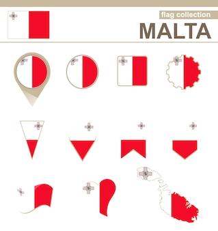 Colección bandera de malta, 12 versiones