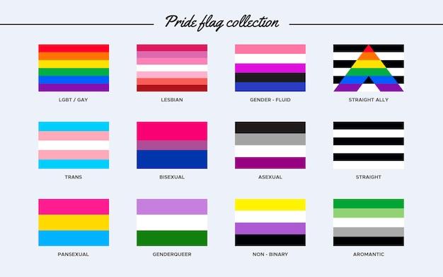 Colección de la bandera del orgullo
