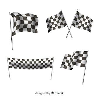 Colección de banderas a cuadros