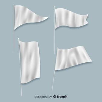 Colección de banderas de tela