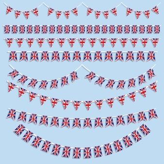Colección de banderines de bandera británica