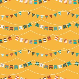 Colección de banderolas a color