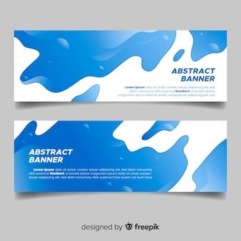 Colección banner abstracto ondas