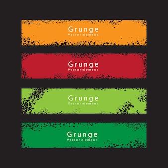 Colección de banner de grunge de color