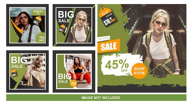 Colección de banner de venta para web y redes sociales