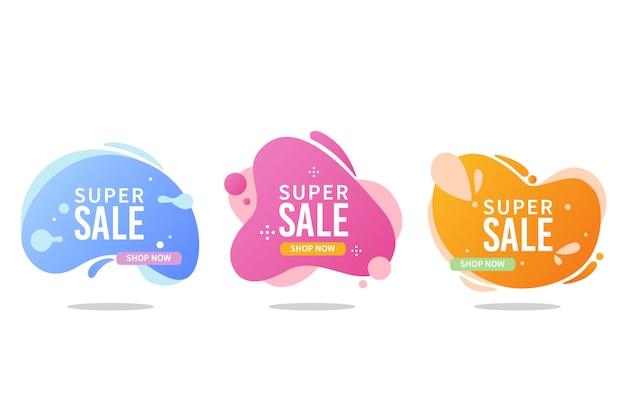 Colección de banner de ventas líquidas