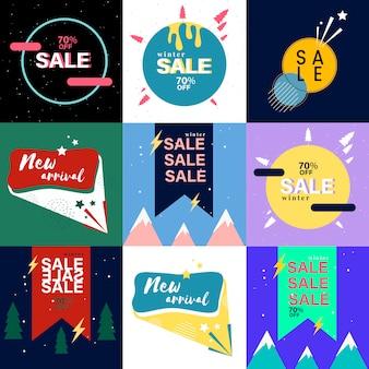 Colección de banner de ventas