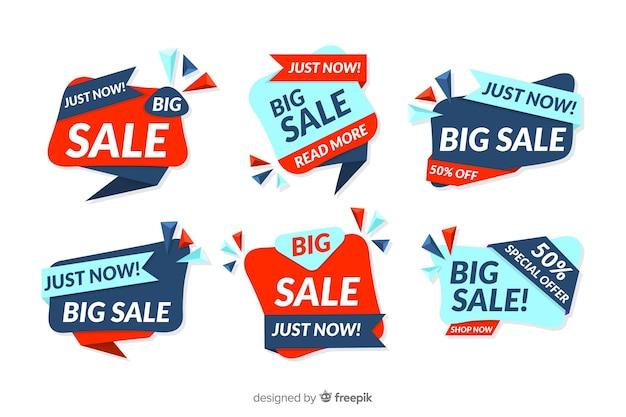 Colección de banners abstractos con ofertas y descuentos