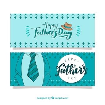 Colección de banners del día del padre con traje