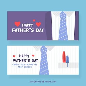Colección de banners de día del padre con traje