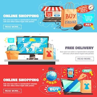 Colección de banners de e-commerce