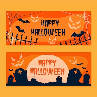 Colección de banners de halloween