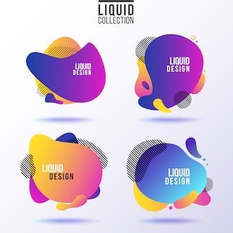 Colección de banners líquidos.