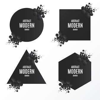 Colección de banners modernos rotos