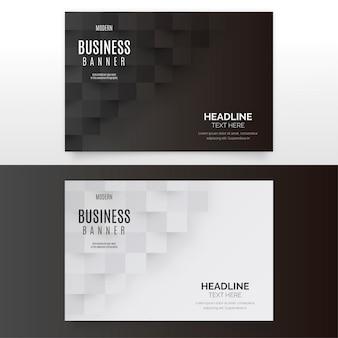 Colección de banners de negocios modernos
