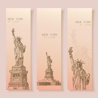 Colección de banners de nueva york