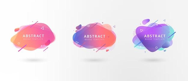 Colección de banners ovalados abstractos coloridos