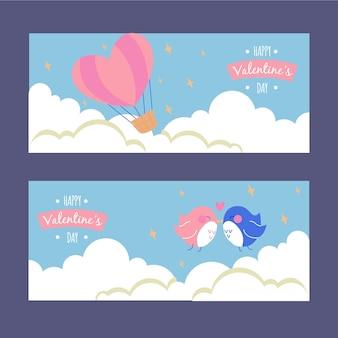 Colección de banners de san valentín