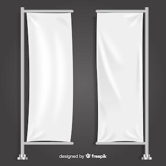 Colección de banners de tela verticales