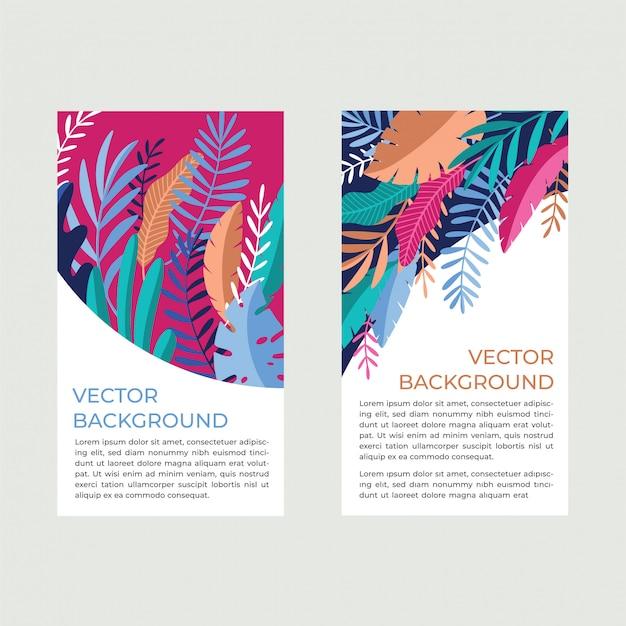 Colección de banners tropicales