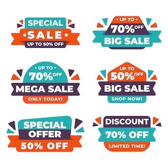 Colección de banners de ventas abstractas