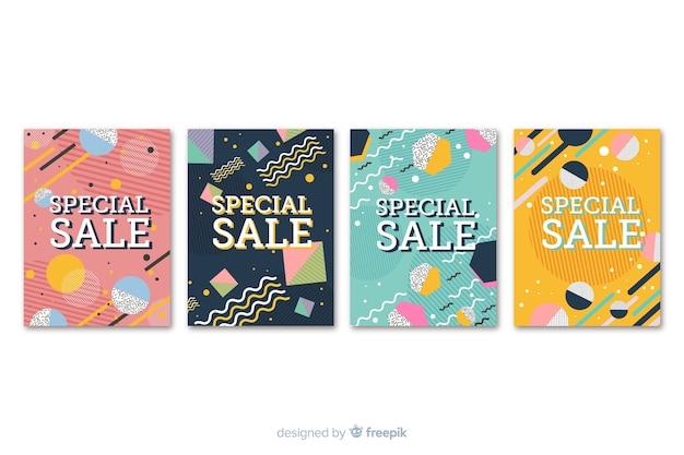 Colección de banners de ventas de memphis.