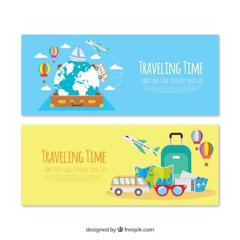Colección de banners de viaje