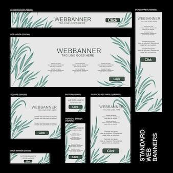 Colección de banners web - botánico