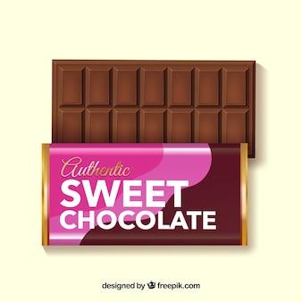 Colección de barras de chocolate deliciosas