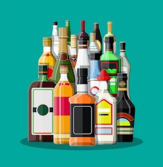 Colección de bebidas alcohólicas.