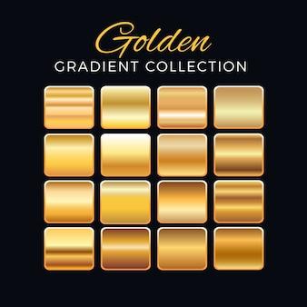 Colección de bloques de degradado dorado