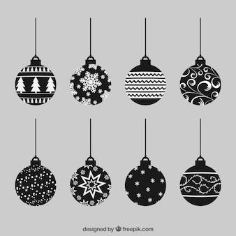 Colección de bolas de navidad abstractas