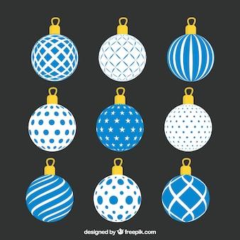 Colección de bolas de navidad con diseño abstracto
