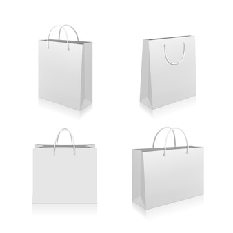 Colección de bolsas de papel